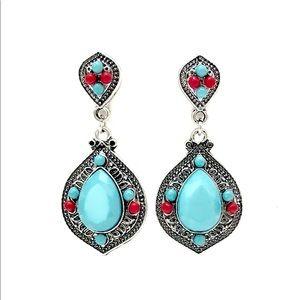 Vintage Silver Turquoise Earrings